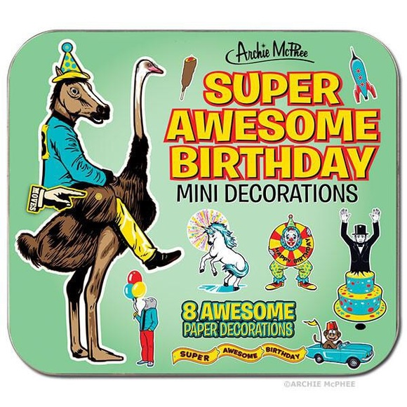 archie mcphee Other - Archie McPhee Super Awesome Birthday Decorations